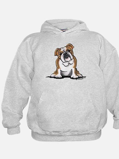 Brown White Bulldog Hoodie
