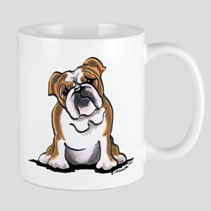 Brown White Bulldog Mug