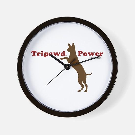 Tripawd Power Wall Clock