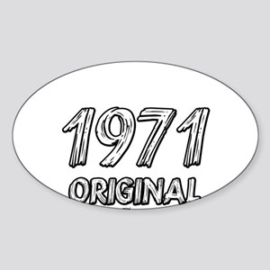 Mustang 1971 Sticker (Oval)