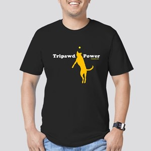 Tripawd Power Men's Fitted T-Shirt (dark)
