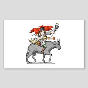 BBQ Warrior Sticker (Rectangle)