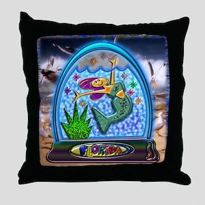 Throw Pillow Mermaid Florida Water Globe