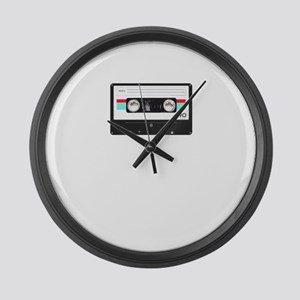 Cassette tape Large Wall Clock