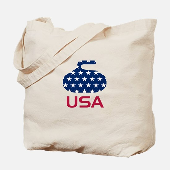 USA curling Tote Bag