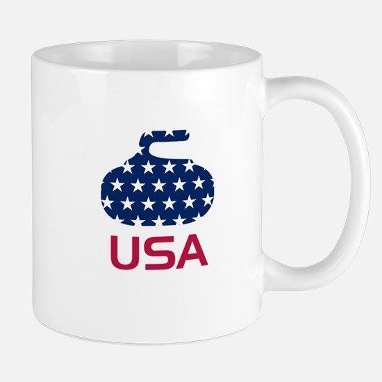 USA curling Mug