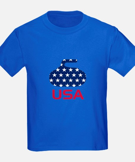 USA curling T
