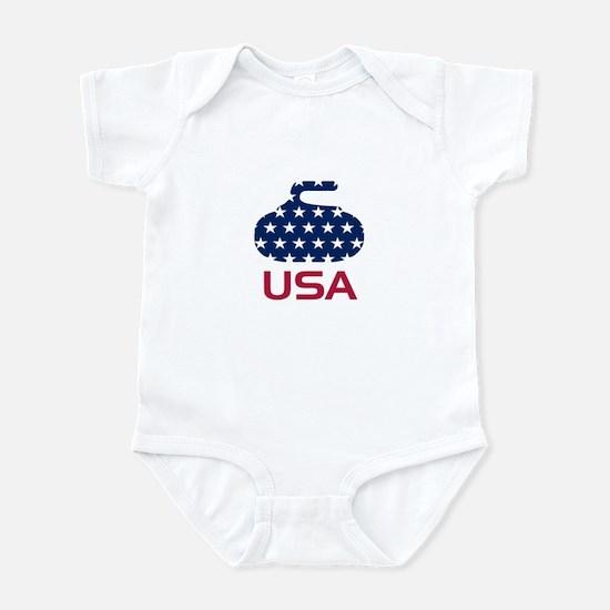 USA curling Infant Bodysuit