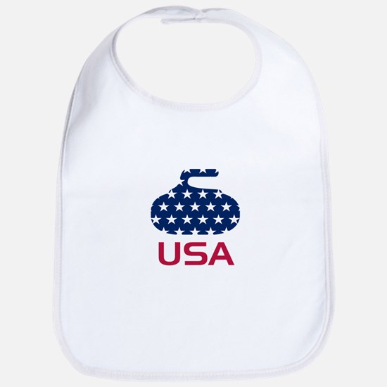USA curling Bib