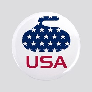 """USA curling 3.5"""" Button"""