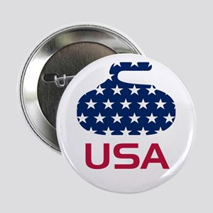 """USA curling 2.25"""" Button"""