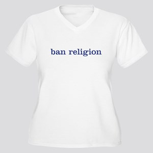 ban religion Women's Plus Size V-Neck T-Shirt