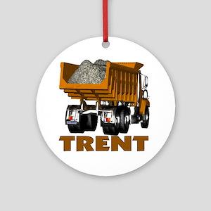 Trent Dumptruck Ornament (Round)