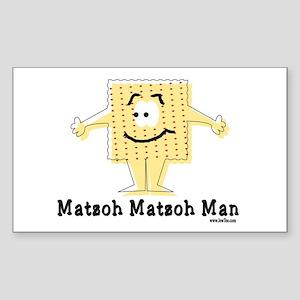 Matzoh Man Passover Sticker (Rectangle)