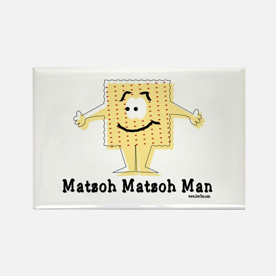 Matzoh Man Passover Rectangle Magnet