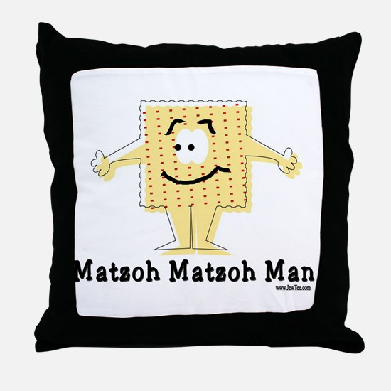Matzoh Man Passover Throw Pillow