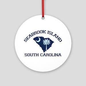 Seabrook Island SC - Map Design Ornament (Round)