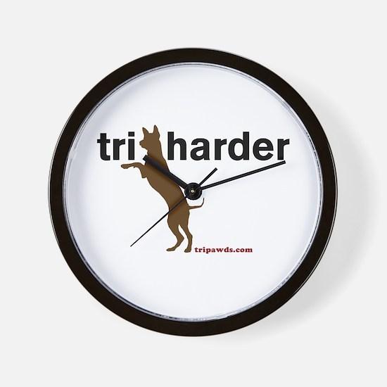 Tri Harder Wall Clock