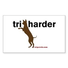 Tri Harder Sticker (Rectangle)