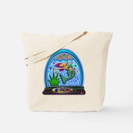 Tote Bag Mermaid Florida Water Globe