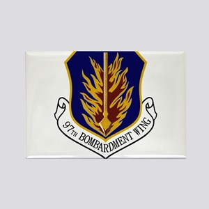 97th Bomb Wing Rectangle Magnet