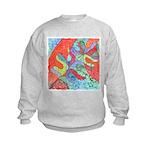 Multicolor Oak Leaf Art Kids Sweatshirt