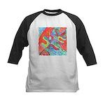 Multicolor Oak Leaf Art Kids Baseball Jersey