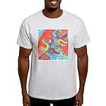 Multicolor Oak Leaf Art Light T-Shirt