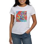 Multicolor Oak Leaf Art Women's T-Shirt