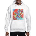 Multicolor Oak Leaf Art Hooded Sweatshirt