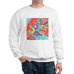Multicolor Oak Leaf Art Sweatshirt