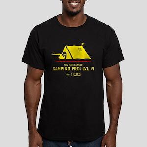Camping Pro: LVL VI Men's Fitted T-Shirt (dark)