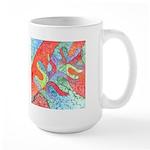 Multicolor Oak Leaf Art Large Mug