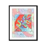 Multicolor Oak Leaf Art Framed Panel Print