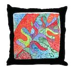 Multicolor Oak Leaf Art Throw Pillow