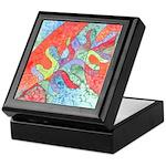 Multicolor Oak Leaf Art Keepsake Box