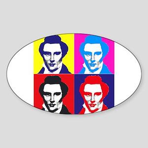 Joseph Smith Pop Art Sticker (Oval)