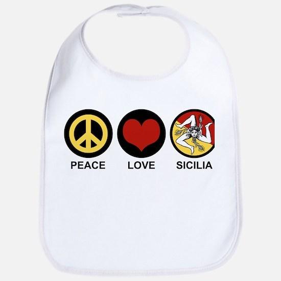 Peace Love Sicilia Bib