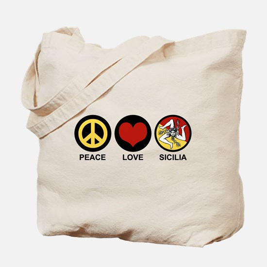 Peace Love Sicilia Tote Bag
