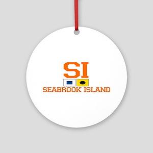 Seabrook Island SC - Nautical Design Ornament (Rou