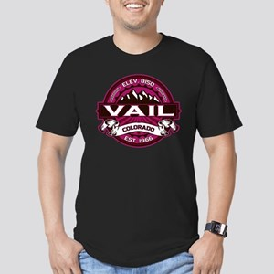 Vail Raspberry Men's Fitted T-Shirt (dark)
