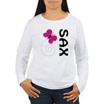 Fun Sax Butterfly Women's Long Sleeve T-Shirt