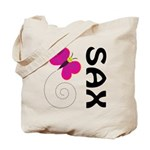 Fun Sax Butterfly Tote Bag
