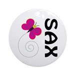 Fun Sax Butterfly Ornament (Round)