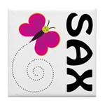 Fun Sax Butterfly Tile Coaster