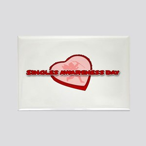Singles Awareness Day Rectangle Magnet