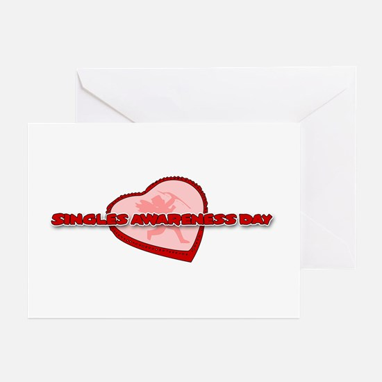 Singles Awareness Day Greeting Cards (Pk of 10