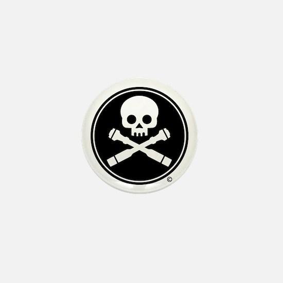 Skull and Crossed Drones Mini Button