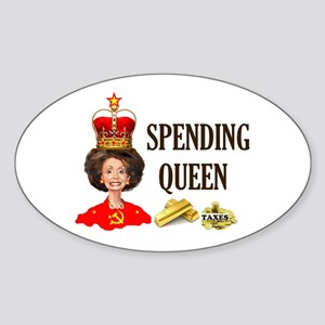 QUEEN OF HIGH TAXES Sticker (Oval)