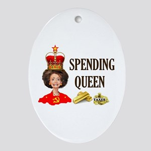 QUEEN OF HIGH TAXES Ornament (Oval)